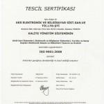 AKS ISO 9001-2008 Belgesi